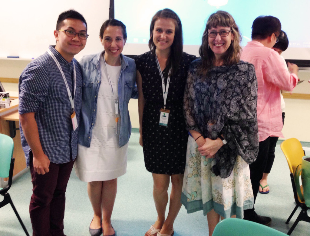 From left to right, Caleb Lee, Karen Gilodo, Lois Adamson and Jennifer Andersen present at the 8th annual IDIERI Conference in Singapore.