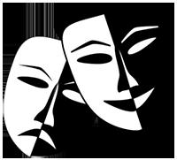 theatre masks symbol